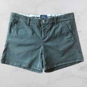 American Eagle Stretch Midi dark olive shorts, 10